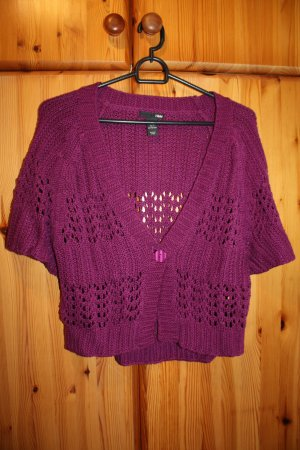 H&M Cardigan all'uncinetto magenta Viscosa
