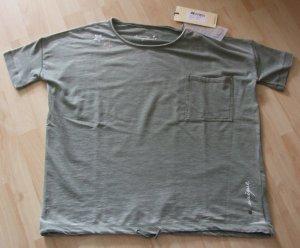 Frogbox Sweatshirt gris vert tissu mixte