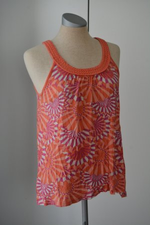 Kurzarm Top Oberteil H&M Gr UK 10 EUR 36 S orange rosa pink Sommer