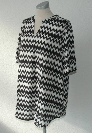 Blouse à manches courtes noir-blanc
