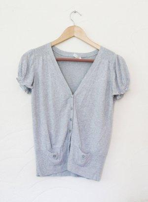 Kookai Short Sleeve Knitted Jacket light grey
