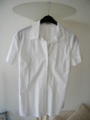 More & More Blouse à manches courtes blanc coton