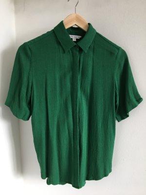 Kurzarmbluse in strahlendem Grün