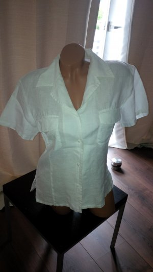 Hennes Collection by H&M Linen Blouse white linen
