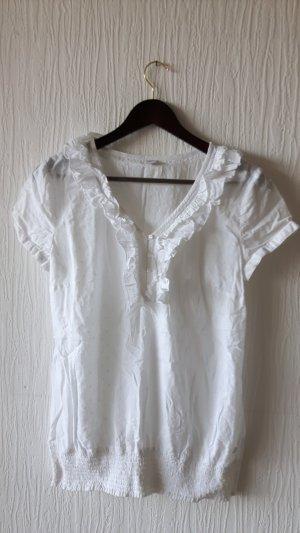 Kurzarmbluse/Shirt von s.Oliver Größe 38 weiß