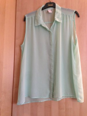 Vila Short Sleeved Blouse mint polyester