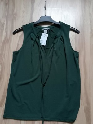 HM Blouse forest green