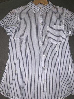 H&M L.O.G.G. Short Sleeve Shirt white-blue