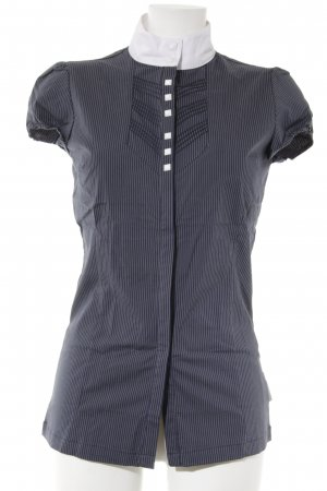Kurzarmhemd dunkelblau-weiß Elegant