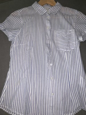 H&M L.O.G.G. Camisa de manga corta blanco-azul