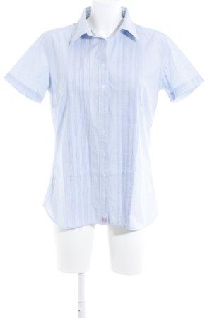 Chemise à manches courtes bleu azur style décontracté