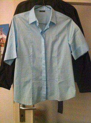 Eterna Shirt met korte mouwen azuur