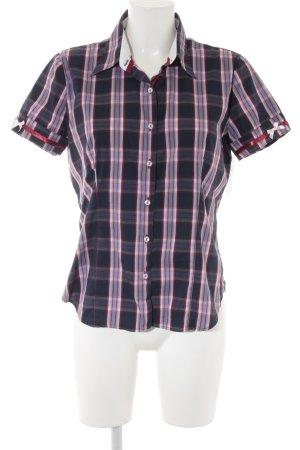 Shirt met korte mouwen geruite print casual uitstraling