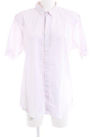 Camicia a maniche corte rosa pallido stile casual