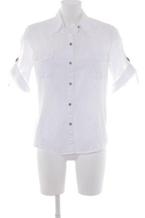 Chemise à manches courtes blanc style décontracté