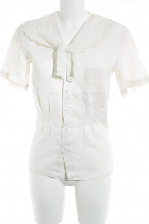 Short Sleeve Shirt natural white lace look