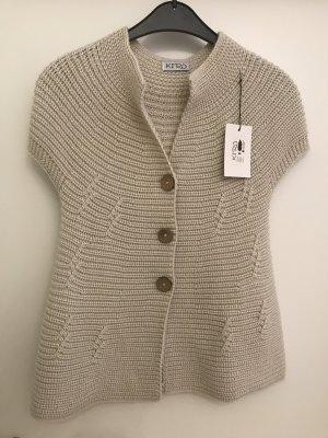 Short Sleeve Knitted Jacket oatmeal