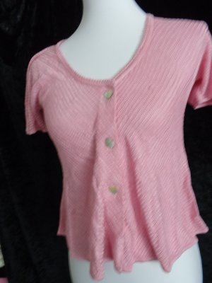 Short Sleeve Knitted Jacket pink-light pink viscose