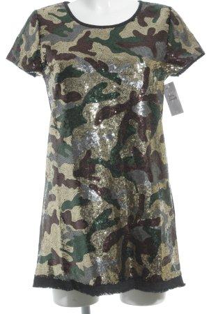 Kurzarmkleid Camouflagemuster Party-Look