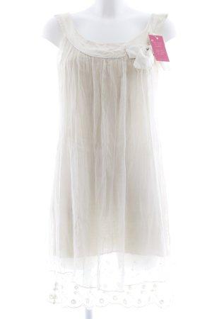 Kurzarmkleid creme Romantik-Look
