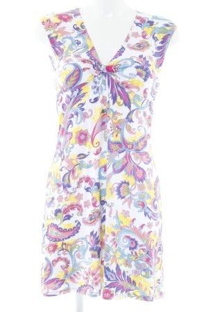 Robe à manches courtes motif floral style hippie