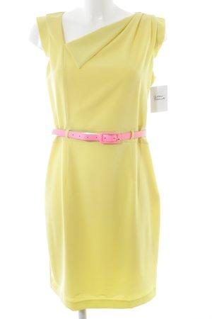 Kurzarmkleid gelb klassischer Stil