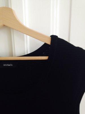 Kurzarmkleid in schwarz