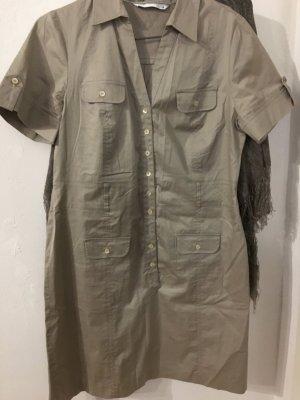 Senso Vestido tipo blusón marrón arena Algodón