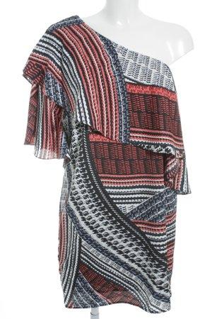 Robe à manches courtes Mélange de motifs style mode des rues