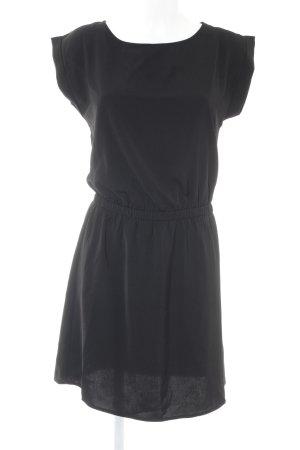 Kurzarmkleid schwarz Casual-Look