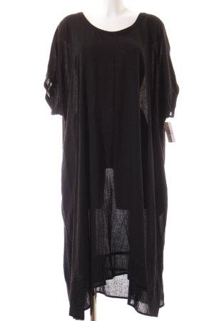 Kurzarmkleid schwarz schlichter Stil