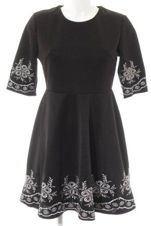Kurzarmkleid schwarz-weiß Elegant