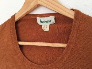 hessnatur Jersey de manga corta color bronce