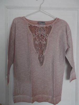 Jersey de manga corta rosa empolvado Algodón