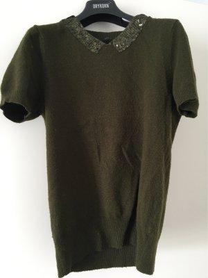 Set Short Sleeve Sweater dark green