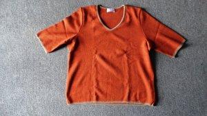 Bonita Jersey de manga corta multicolor tejido mezclado