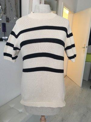 Joop! Jeans Maglione a maniche corte nero-crema