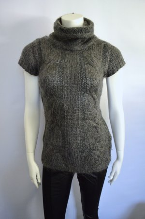 Kurzarmpullover Anthrazit Mohair Strick Used