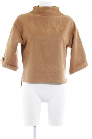 Jersey de manga corta marrón look Boho
