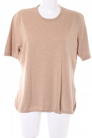 Short Sleeve Sweater camel '50s style