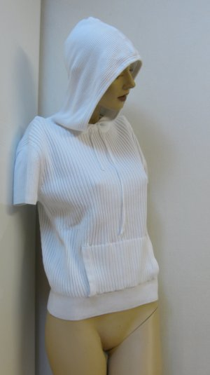 Esprit Hooded Sweater white cotton