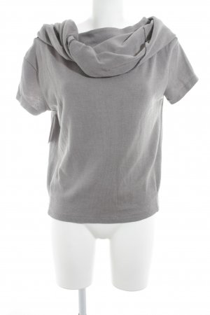 Kurzarmpullover grau-schwarz Casual-Look