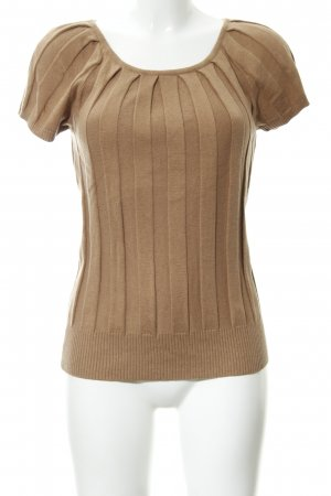 Maglione a maniche corte marrone chiaro stile casual