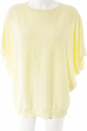 Short Sleeve Sweater pale yellow casual look