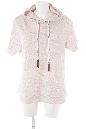 Jersey de manga corta rosa claro estampado con aplicaciones look casual