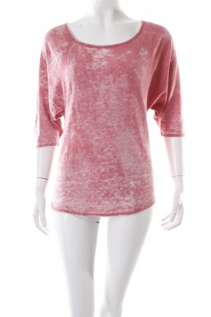 Short Sleeve Sweater raspberry-red-pink flecked
