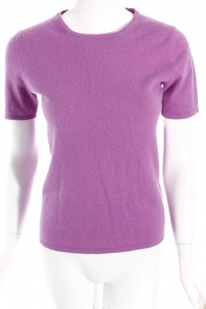Short Sleeve Sweater lilac simple style