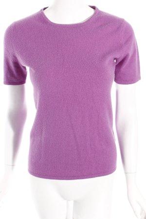 Jersey de manga corta lila estilo sencillo