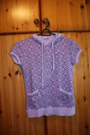 Pimkie Short Sleeve Sweater grey lilac-mauve cotton
