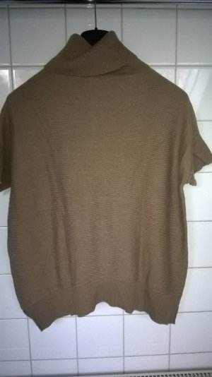 Marc O'Polo Short Sleeve Sweater sand brown-gold-colored wool